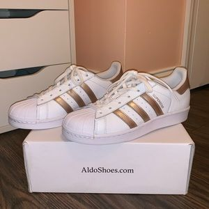 NWOT Adidas Superstar Rose Gold Women's Sneaker
